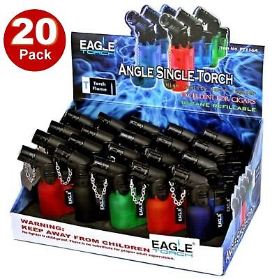 20x 45 Degree Angle Eagle Jet Flame Butane Refillable Windproof Torch Lighter