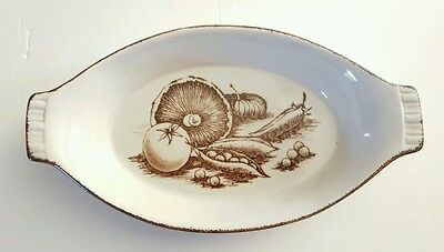 """Vtg Midwinter MDW19 Brown Vegetable 11"""" Augratin Dish Ovenware Cookware Wedgwood"""