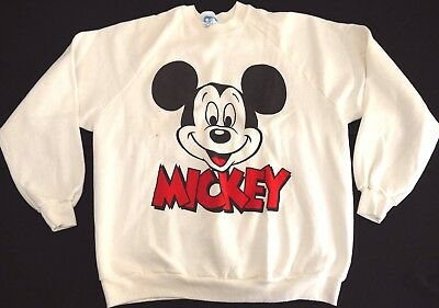 VINTAGE 80s ICONIC MICKEY MOUSE sweatshirt mens adult WALT DISNEY WORLD USA MADE