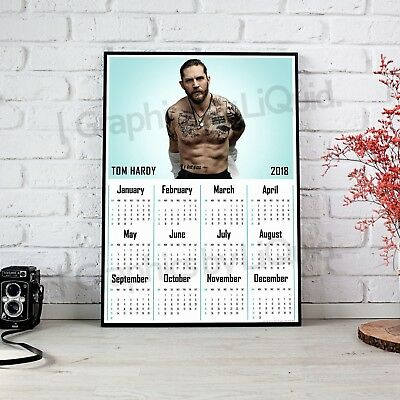 Tom Hardy Calendar 2018 Large A3 Wall Poster New & Sealed Year Calendars