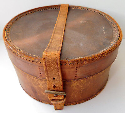 Small collar box leather vintage early 20th century luggage case officer nurse