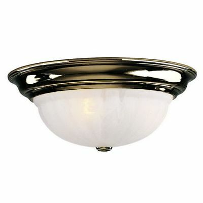 Dolan Designs 523 Polished Brass 3 Light Down Light Flushmount Ceiling Fixture