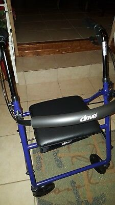 Drive Medical Rollator Folding Walker Adult 4 Wheel Used