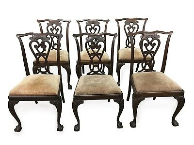 Vintage Italian Chippendale dining chairs Set of Six