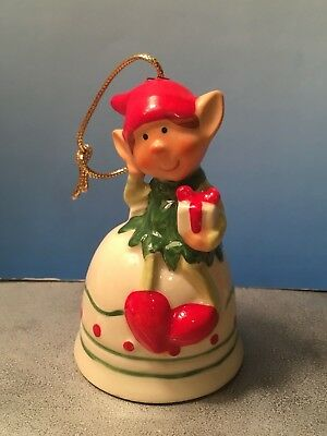 "Vintage 1979  ""Himself the Elf""  WWA Co. Porcelain Christmas Elf BELL/Ornament"