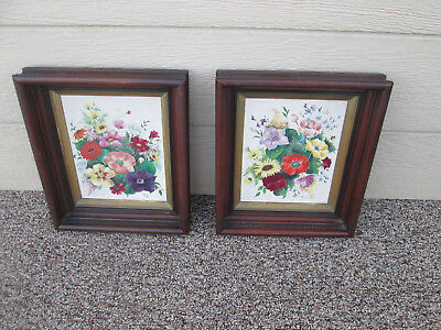 00001 Pair Victorian Print s in Fancy Picture frame