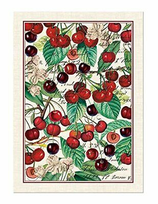 Michel Design Works Black Cherry Cotton Kitchen Towel New