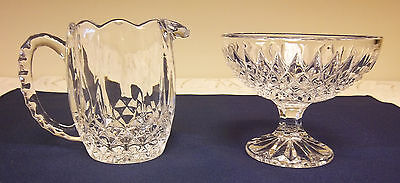 Sugar & Creamer J.G. Durand Cristal d'Arques Lead Crystal Glass France Longchamp