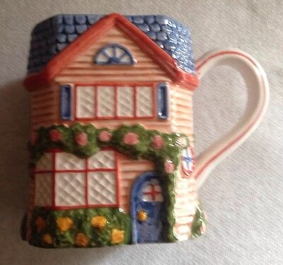 """Avon 1997 Cottage Collection/""""tan Cottage""""/new W/o Box/very Desirable!"""
