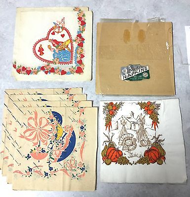 Vintage  Napkins - Assorted. OLD! Free if you pay the shipping/handling ($6)
