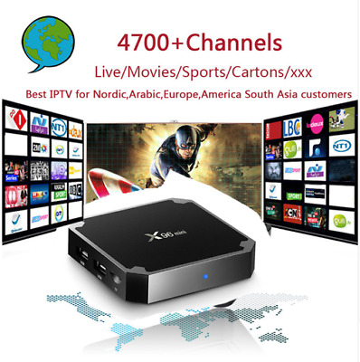 Nordic IPTV X96mini 4k Android 7.1 TV Box with 4700+ PRO IPTV EU AR IL US CA
