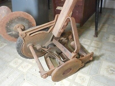 Antique Push Mower Vintage One Wheeled Rare Lawn Edger Trimmer Golf Course Tool