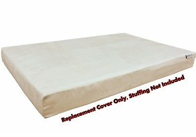 Dog Bed Duvet Replacement Cover for Small Medium Extra Large Pet -Suede in Khaki