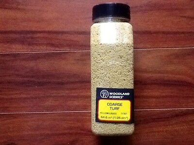 Woodland Scenics Yellow Grass Coarse Turf 32oz. Shaker  # T1361 Factory Sealed