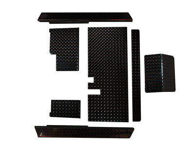 Yamaha G14-G22 Golf Cart Black Diamond Plate Combo Accessory Kit with Floor