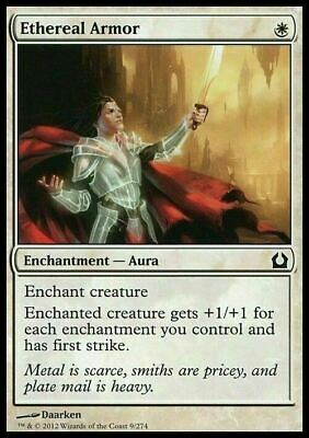 4 x Ethereal Armor (1 x PLAYSET) ~ NearMint/Excellent+ ~ Magic The Gathering