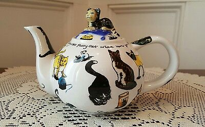 Paul Cardew Cat Tea For One Teapot Signed 2010