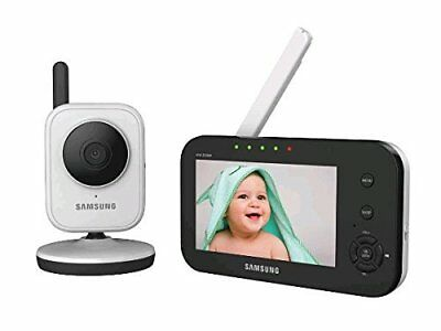 Samsung SEW-3040W SimpleVIEW Baby Monitoring System IR NIght Vision Zoom, 4.3""