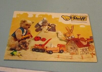 1970 Steiff Realistic Plush Animals Retail Toy Catalog KEUS Button in Ear Brand