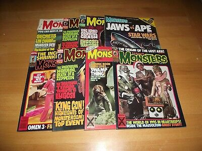 8 Rare Vintage Famous Monsters Of Filmland Magazines