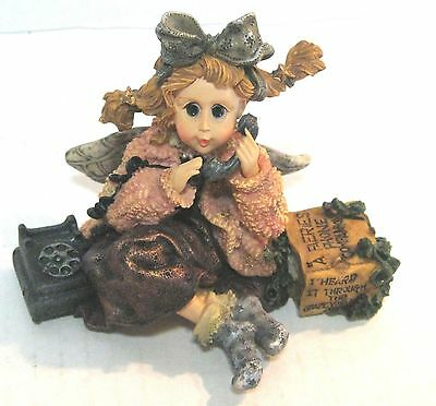 "Boyds Collection Figurine 1997 Wee Folkstone ""gabby"" The Phone Faerie #36003"