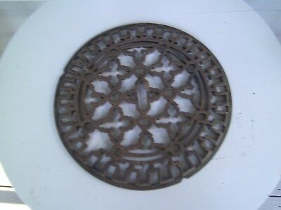 "Antique  Cast Iron  Stove Door or Cover   Grate   11"" Dtameter"