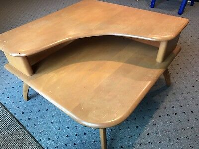 Heywood Wakefield Two Tier Corner Table - M338G - Champagne