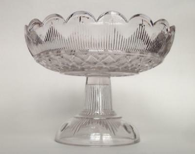Hamilton FOOTED SHALLOW COMPOTE Clear Flint Glass EAPG Cape Cod Sandwich 1860s