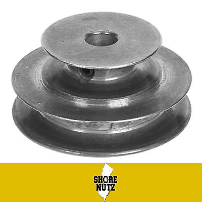 "2 Step V Belt Pulley #150   2"" 3""  X 5/8 Bore 3/16 Keyway For ""a"" Or 4L Belt"