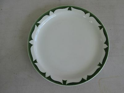 Jackson China ROJ190 Restaurant ware , Green Stenciled Edge Bread & Butter Plate