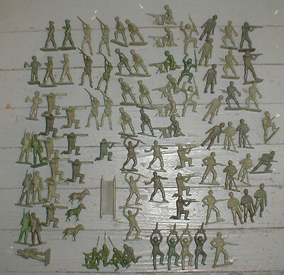 Vintage Timmee Huge Lot of 84 US GI Army Figures Great Poses Nice Lot