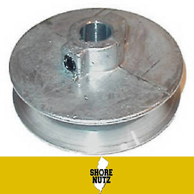 "Chicago Die Cast Single V Groove Pulley A Belt 4"" OD X 5/8"" Bore 400A6"