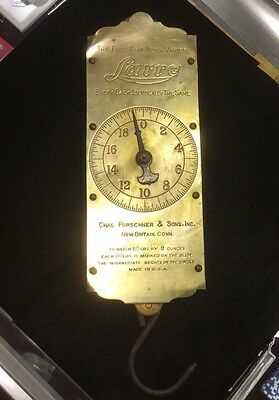 Vintage Brass Larro Feed and Seed Scale w/ Hook