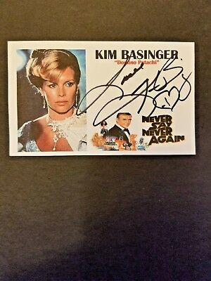 """Never Say Never Again"" Kim Basinger ""Domino Petachi"" Autographed 3x5 Index Card"