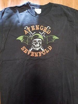 Avenged Sevenfold  Tour T Shirt Large Concert Black