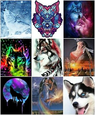 DMC Wolf Wolves Cross Stitch Embroidery Pattern Kits Chart PDF Counted 14 count