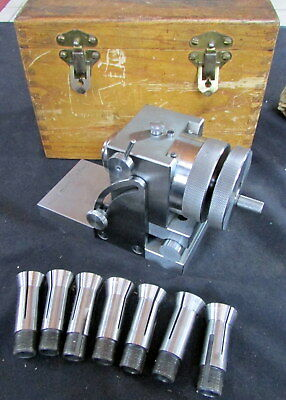 3 At Collet Indexer With 0-45 Degree Sine Plate With 8 Collets
