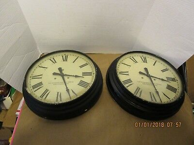 Vintage The Standard Electric Time Co. Springfield Mass Slave Wall Clocks School