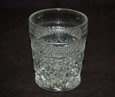 Vintage Wexford by Anchor Hocking Diamond Point CrissCross Old Fashioned Glass a