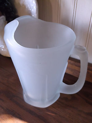 Tiara Crystal Frosted Pitcher Satin Glass 50 oz