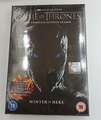 GAME OF THRONES SEASON 7 + Conquest & Rebellion 5 DISCS REGION 2 DVD NEW SEALED