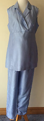 Women's Size Medium Take Nine Maternity Pants & Crossover Neck Tie Back Blouse
