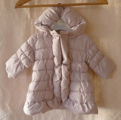Baby Gap Pink Girls Puffa Quilted Hooded Jacket Coat Size to Fit 0-6 Months New