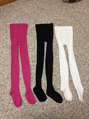 3 Pack of Girls Knitted Tights Size 7-10