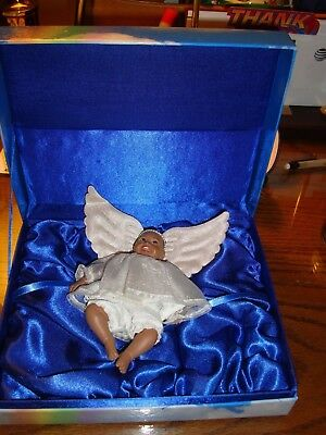 "Angel Doll Ornament Daddy's Babies Collection ""crystal"", 5 1/2"""