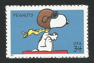Snoopy The Red Baron WWI Flying Ace Puppy Dog On Doghouse Peanuts US Stamp MINT!
