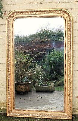 Beautiful French Gilt and Gesso Mirror Overmantle