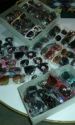 RETRO SUNGLASSES VINTAGE LOT OF 1 DZ.ALL DIFFERNT 1980s&90s