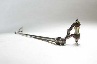 antique towel bar rod rack holder | art deco vtg victorian towel brass nickel