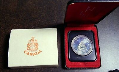 1976 Canada Silver Dollar 100 Year Library Parliament Anniversary Coin